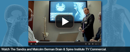 Watch The Sandra and Malcolm Berman Brain & Spine Institute TV Commercial.