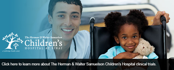Click here to learn more about The Herman & Walter Samuelson Children's Hospital clinical trials.