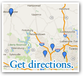 LifeBridge Health Sleep Centers Map - Click to view directions.